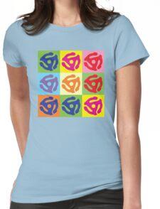 45 RPM Vinyl Record Player Pop Art Womens Fitted T-Shirt