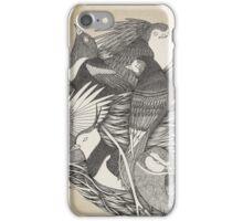 Little nest ink illustration iPhone Case/Skin