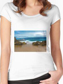 Portsea lightning Women's Fitted Scoop T-Shirt