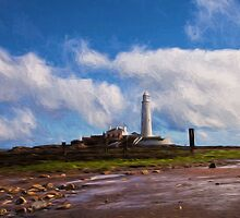 St Mary's Island (with Swirl Effect) by Violaman