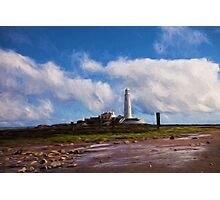 St Mary's Island (with Swirl Effect) Photographic Print