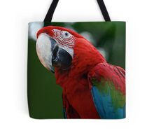 Close-Up Of A Green-Winged Macaw Tote Bag