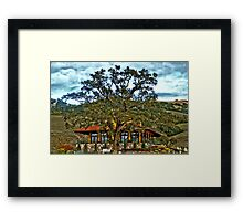 Red Ranch Framed Print