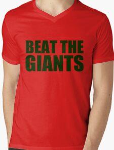 Oakland Athletics - BEAT THE GIANTS Mens V-Neck T-Shirt