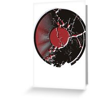 Vinyl Record Pop Art Explosion Greeting Card