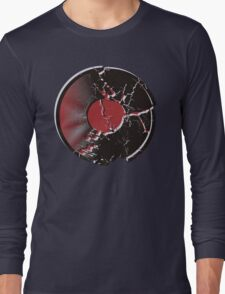 Vinyl Record Pop Art Explosion Long Sleeve T-Shirt