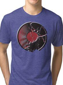 Vinyl Record Pop Art Explosion Tri-blend T-Shirt