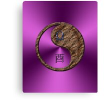 Libra & Rooster Yin Earth Canvas Print