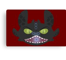 Angry Toothless Canvas Print