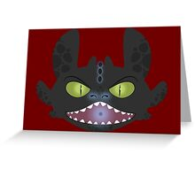 Angry Toothless Greeting Card