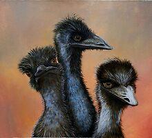 Emus by Jennie Liebich