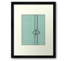 1920s Blue Deco Swing with Monogram letter A Framed Print