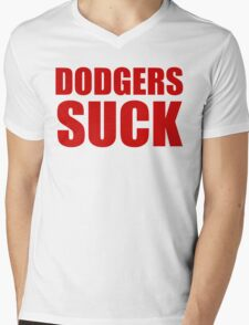 Arizona Diamondbacks - DODGERS SUCK Mens V-Neck T-Shirt