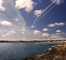 Flight paths across Falmouth, Cornwall by Sharon Bishop