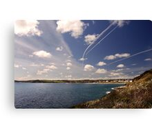 Flight paths across Falmouth, Cornwall Canvas Print