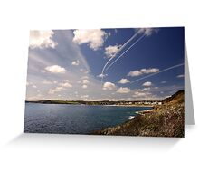 Flight paths across Falmouth, Cornwall Greeting Card