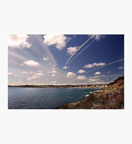 Flight paths across Falmouth, Cornwall Photographic Print