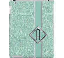 1920s Blue Deco Swing with Monogram letter A iPad Case/Skin