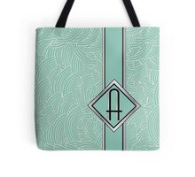 1920s Blue Deco Swing with Monogram letter A Tote Bag