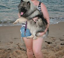 19. Bree & her Keeshond by Cathie Brooker