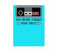 Never Forget Your First Nintendo Art Print