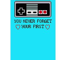 Never Forget Your First Nintendo Photographic Print