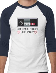 Never Forget Your First Nintendo Men's Baseball ¾ T-Shirt