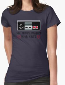 Never Forget Your First Nintendo Womens Fitted T-Shirt