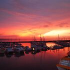 Sunrise Marina Hervey Bay by Adam Fisher