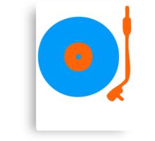 Blue Orange Vinyl Record Turntable Canvas Print