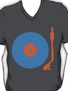 Blue Orange Vinyl Record Turntable T-Shirt
