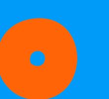 Blue Orange Vinyl Record Turntable Sticker