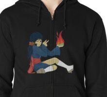 Cyndaquil Gijinka with Fire Zipped Hoodie
