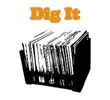 Dig It Vinyl Record Photographic Print