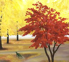 Boston esplanade #1 by Barbara Weir