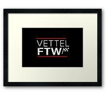 Sebastian Vettel For The Win (Dark background) Framed Print