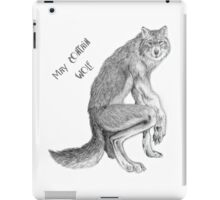 """Good Werewolf - """"May Contain Wolf"""" edition iPad Case/Skin"""