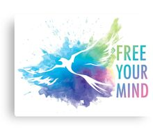 Free Your Mind - Dove Canvas Print