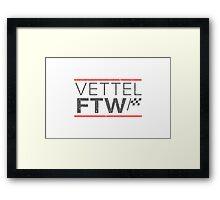 Sebastian Vettel For The Win (Light background) Framed Print