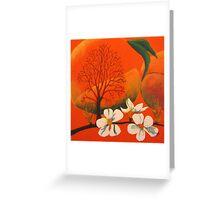 Peach Prelude Greeting Card