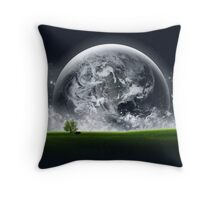 Earth Landscape Throw Pillow