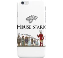 Game of thrones house stark tony stark iPhone Case/Skin