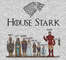 Game of thrones house stark tony stark Kids Clothes