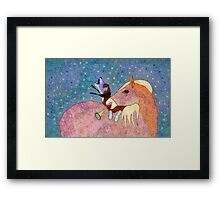 THE HORSE AND THE HOUND AND THE HORN Framed Print