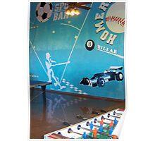 Blue Sport Bar Poster
