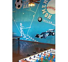Blue Sport Bar Photographic Print