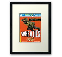 The Incredible Hulk Wheaties Box Framed Print