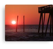 Sunrise at Kitty Hawk Canvas Print