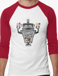 Retro robot colorful candy machine Men's Baseball ¾ T-Shirt