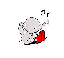 Baby Elephant Playing A Piano Photographic Print